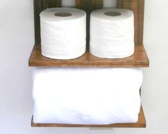 READY to SHIP:  Rolled Towel Rack-Rustic Towel Racks-4 Tier Bathroom Wall Shelves-Rustic Bathroom Towel Racks-Hotel Style Towel Rack