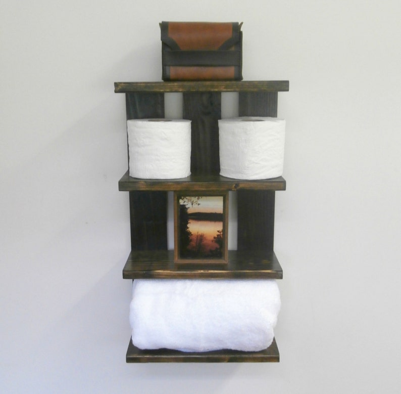 Bathroom Open Shelving For Towels Rolled Bath Towel Wall Etsy