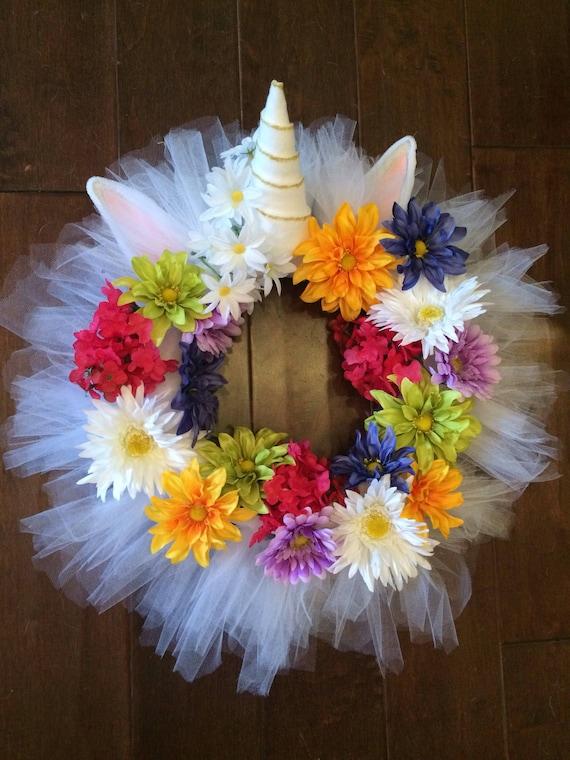 Unicorn Wreath Unicorn Theme Unicorn Party