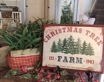 Farmhouse Christmas Etsy