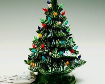 new small lighted ceramic christmas tree