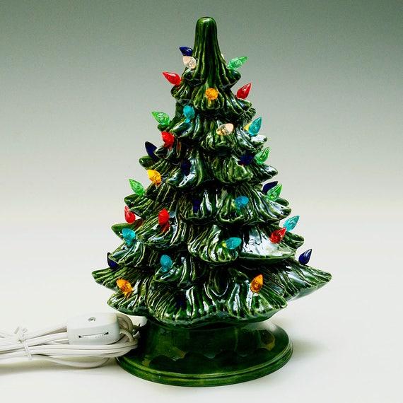 New Small Lighted Ceramic Christmas Tree | Etsy