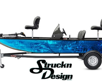 6 Sizes Available Typhoon Aqua Boat Wrap Kit 3M Cast Vinyl Graphic Decal