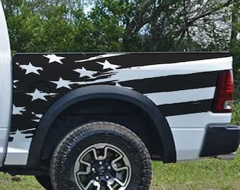 Chicago Sparkly Flag Pick-Up Truck Tailgate Wraps