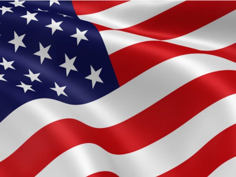American Flag Waving Soft Look American Flag Poster Print image 0