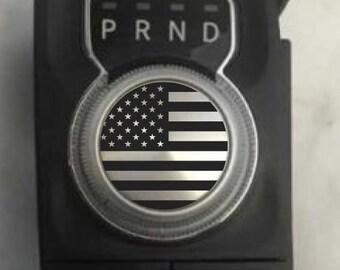 Fits Ram Rebel American Flag Shift Knob Decal Sticker Graphic Vinyl USA Shifter Sticker