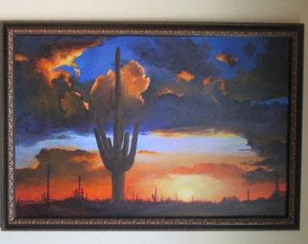 Desert Sunset after the Rain