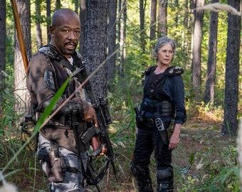 The Walking Dead Negan 8.5x11 Photo Morgan and Carol