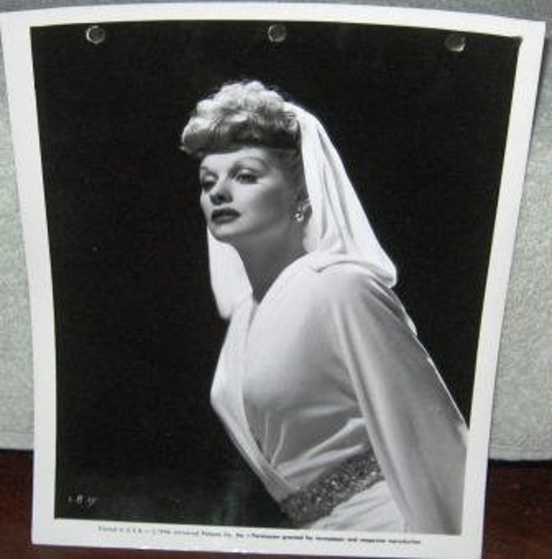 Lucy Lucille Ball Mike Connors Jsa Coa Hand Signed 8x10