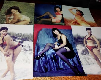 Betty Paige single weight Lab 5x7 Vintage photo Set #721-2 Silver Screen Star