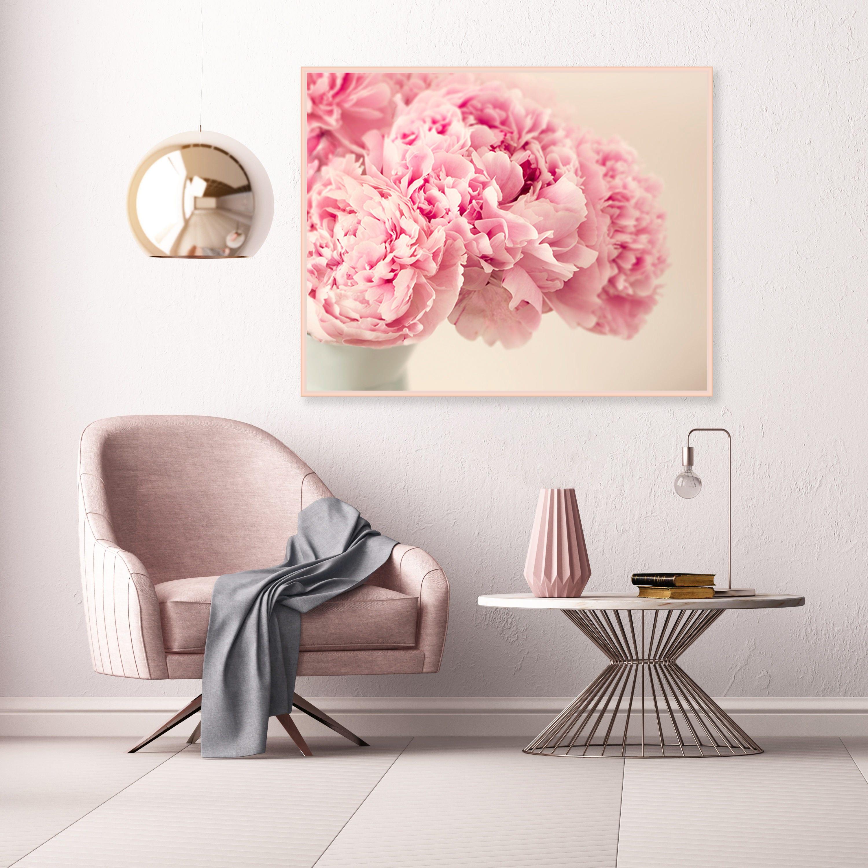 Pink Peonies Photography Pink Flower Prints Blush Pink Wall Art