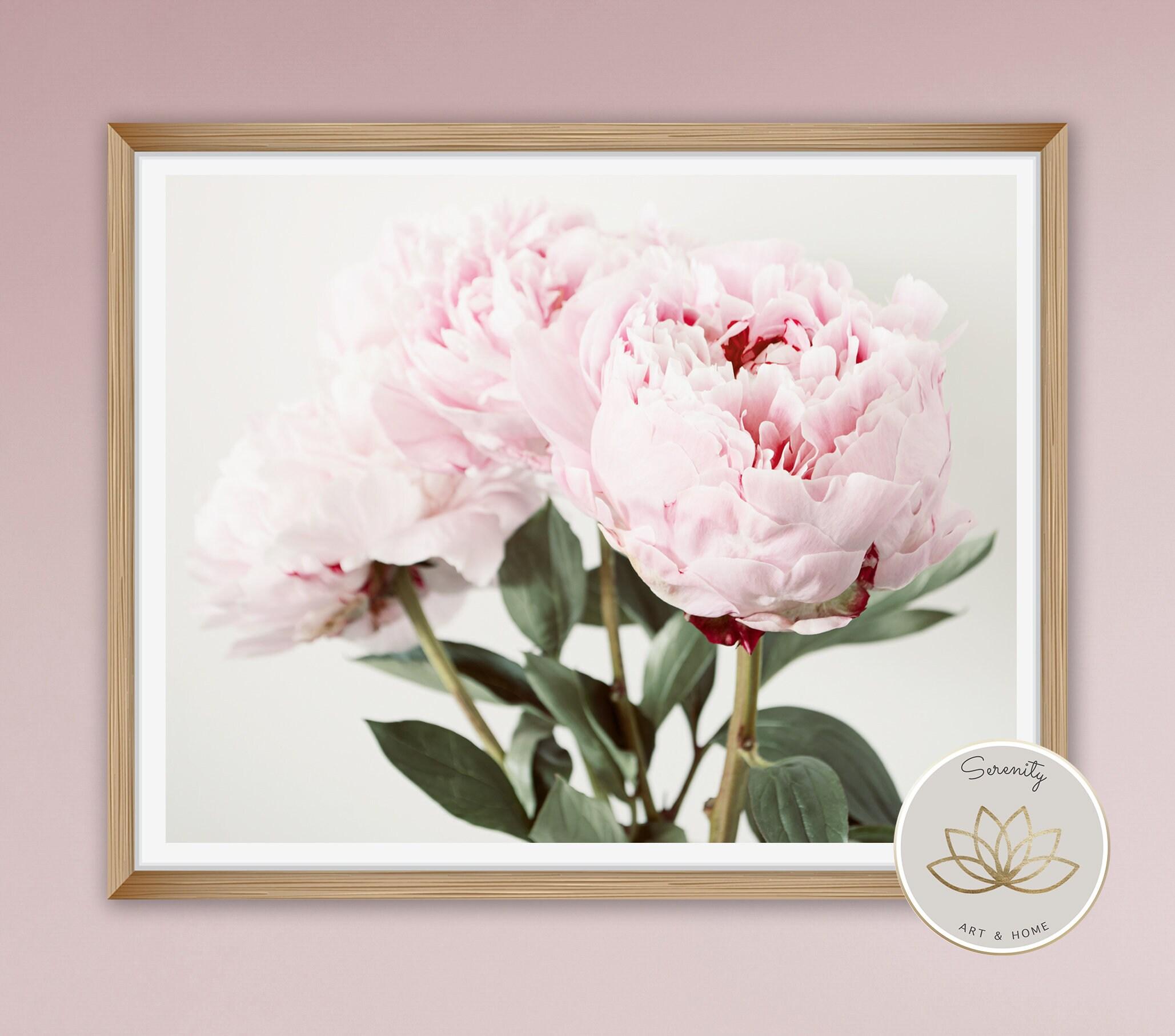 Peony Art Print, Large Botanical Print, Bedroom Decor, Photography ...