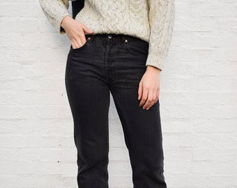 Vintage Levi's 501 Black Jeans Size 30, 90s Levi's 501 Jeans, Levi's 501 Frayed Hem Jeans Size 29, Levi's Cropped Jeans, Button Front Jeans