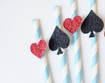 Alice in Wonderland Straws