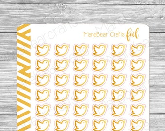 FOILED Bird Stickers! Foiled Functional Planner Stickers Perfect for Any Planner!