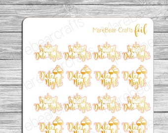 FOILED Date Night Stickers! Foiled Functional Planner Stickers Perfect for Any Planner!