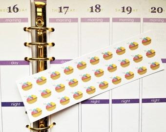 30 Yarn Stickers! Perfect for Erin Condren Life Planner, Filofax, Kikkik, Plum Paper & planner/agenda, or scrapbooking!
