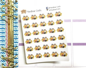 30 Grandparents Stickers! Perfect for your Erin Condren Life Planner, Filofax, Plum Paper & other planner or scrapbooking!