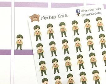 30 Boy Explorer Stickers! Perfect for your Erin Condren Life Planner, Filofax, Plum Paper & other planner or scrapbooking!