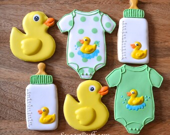 Rubber Ducky Baby Cookies