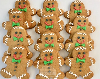 Gingerbread Men Cookies- One dozen lightly decorated gingerbread cookies