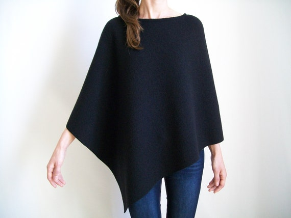 Black Sweater Ponchos