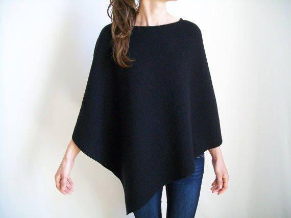 PONCHO donna   100% Merino lana maglione donna   cappa Poncho  ffd001bdd1d
