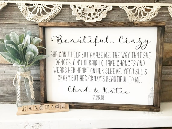 Beautiful Crazy Her Crazy S Beautiful To Me Luke Combs Etsy