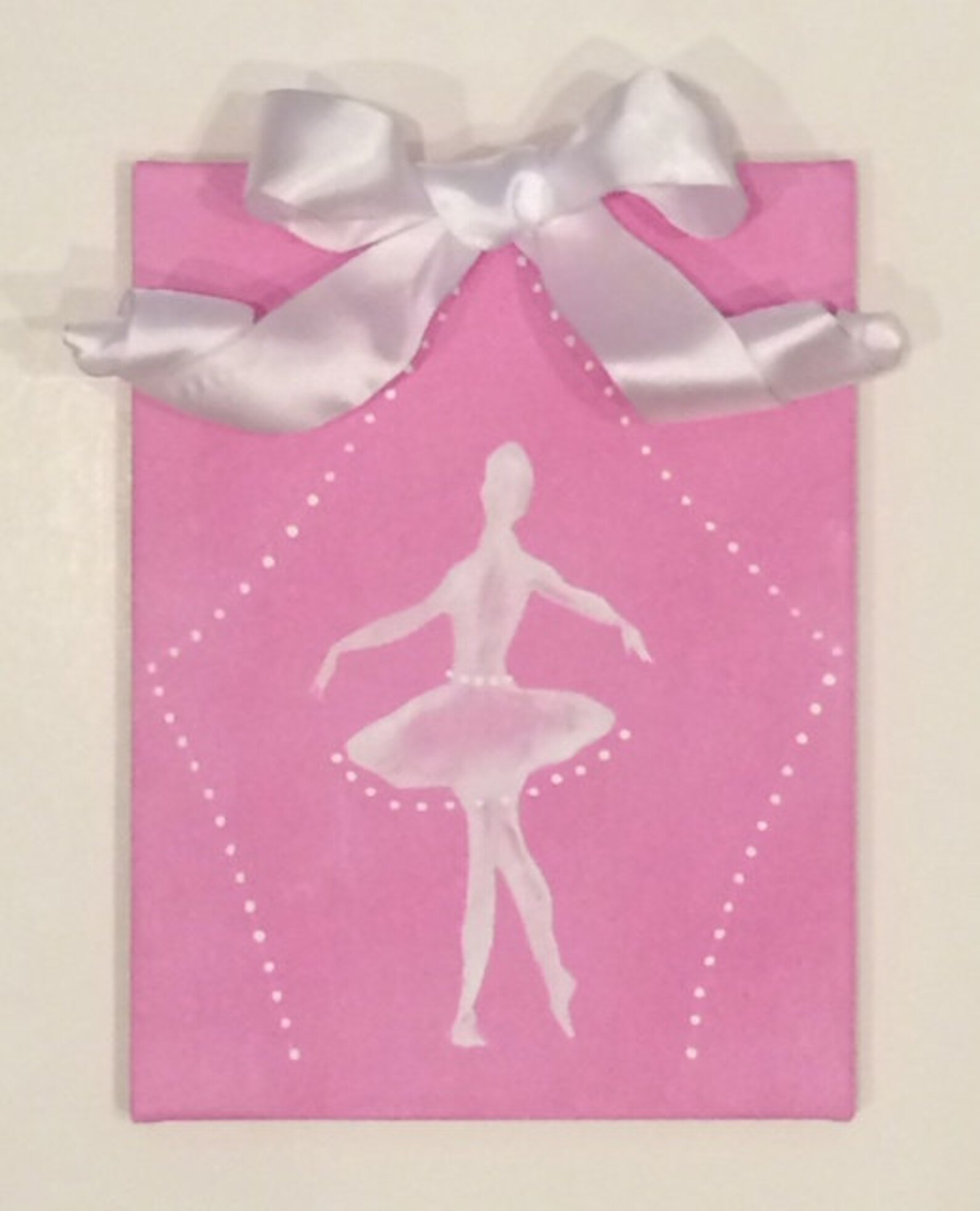 9x12 ballet canvas, ballerina art, ballet art, canvas art, girls room decor, pink girls room, dance art, ballet art, girls rooms
