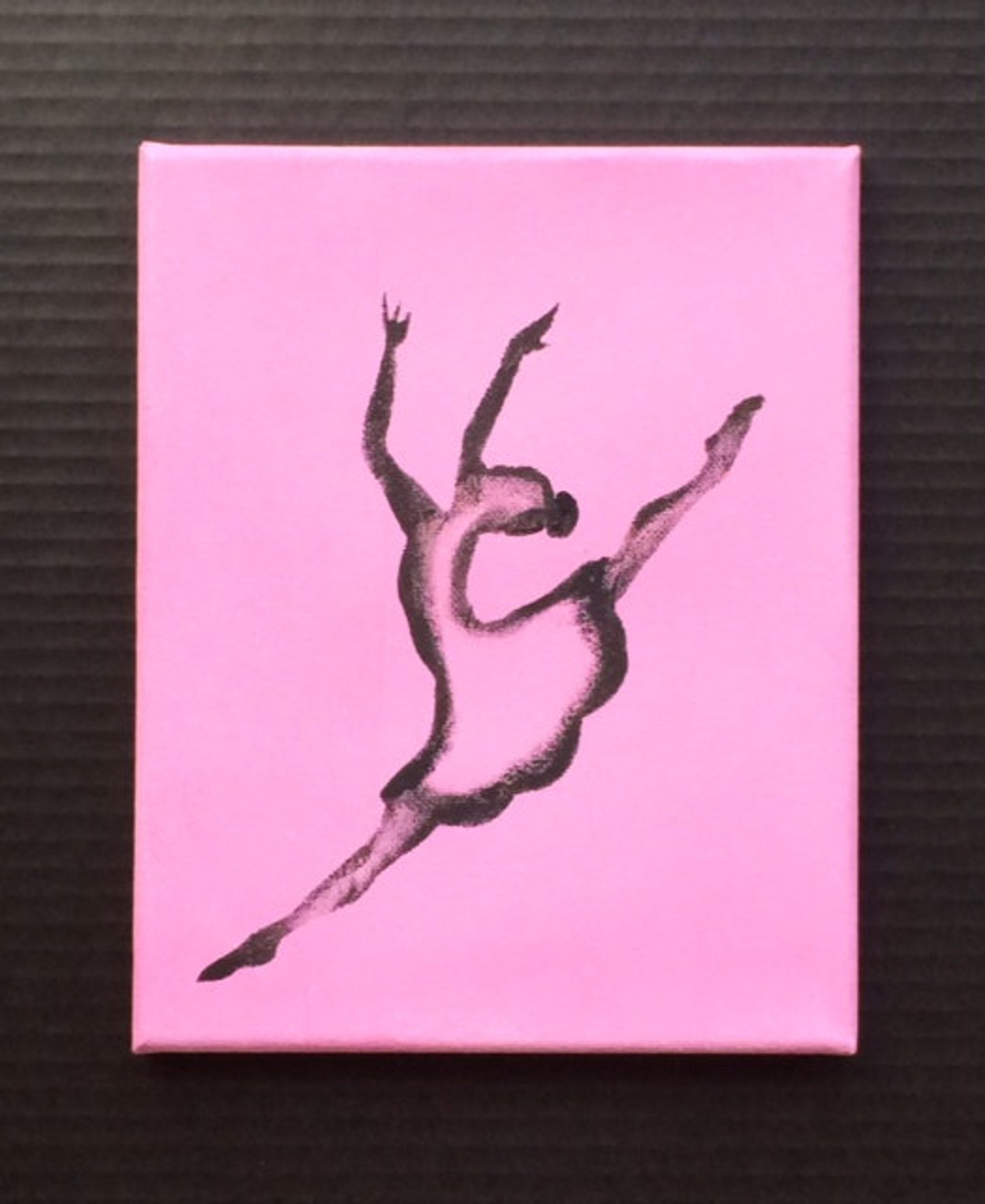 ballet art, ballerina art, original canvas art, girls room, dance art, dance studio art, girls pink rooms, dance gifts, dancer a