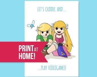 Legend Of Zelda Valentines Card