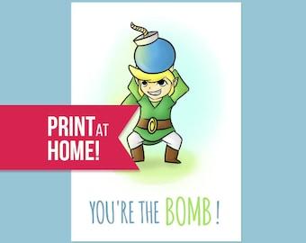 Legend Of Zelda Funny Card