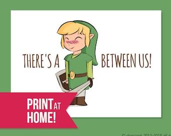 Printable Legend Of Zelda Romantic Card I Found You Etsy