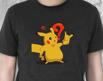 Keaton Mask Pikachu Shirt | Zelda Merchandise | Ocarina of Time | Majora's Mask | Videogame Tshirt | Gaming Apparel | Gaming Shirt
