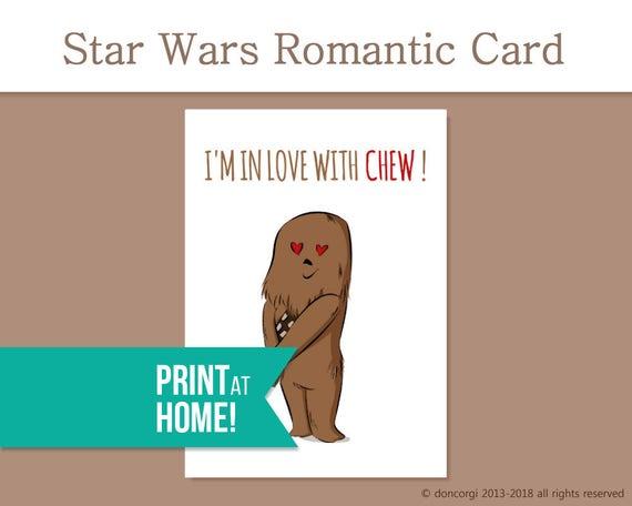 Printable Valentines Card Romantic Star Wars Card I M Etsy