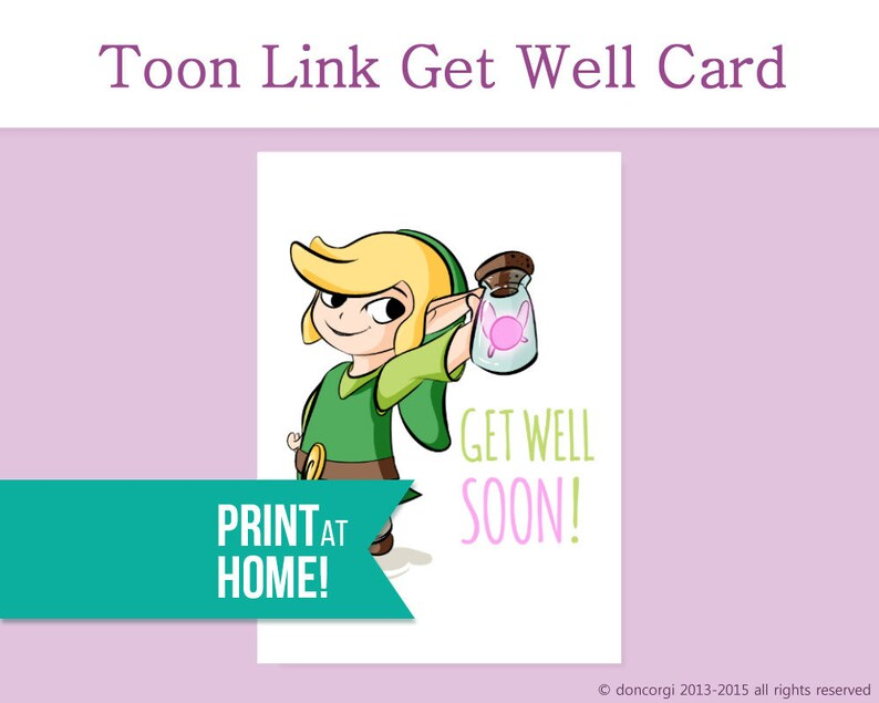 image about Get Well Soon Card Printable named Legend of Zelda Obtain Perfectly Card Printable Card Get hold of Perfectly Quickly Really feel Superior Card Rapid Restoration Card Health and fitness Card Buy Very well Needs -DL