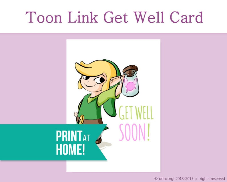 graphic regarding Get Well Card Printable referred to as Legend of Zelda Order Very well Card Printable Card Receive Effectively Quickly Appear to be Improved Card Instant Restoration Card Exercise Card Receive Nicely Desires -DL