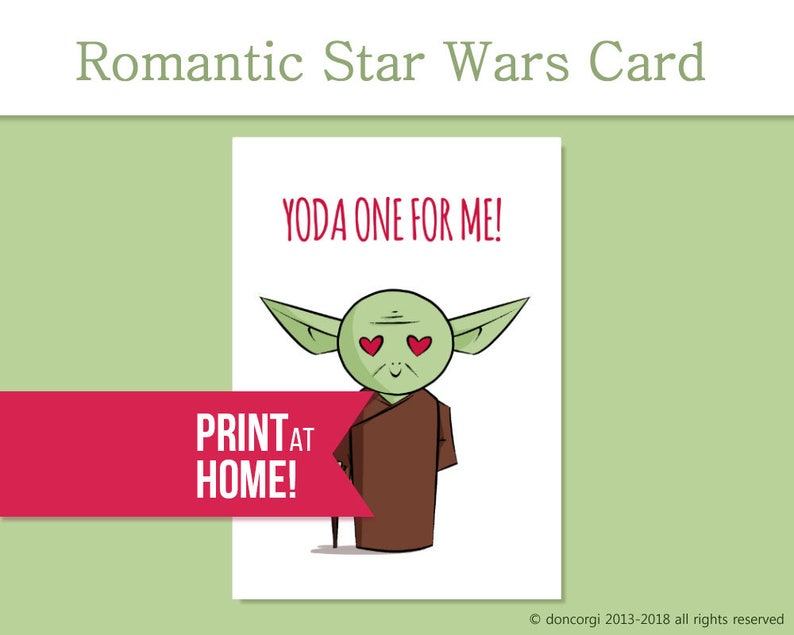 picture about Yoda Printable referred to as Printable Star Wars Passionate Card Yoda just one For Me Star Wars Supporter Get pleasure from Card Star Wars Valentines Card Star Wars Reward - Obtain
