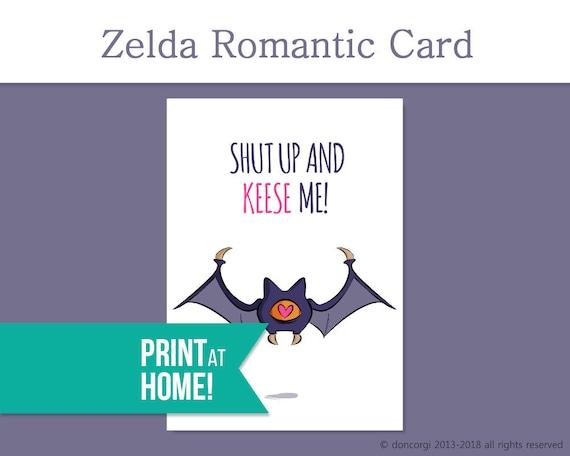 Printable Legend Of Zelda Valentines Card Valentines Day Etsy