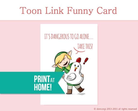 Legend Of Zelda Card Printable Its Dangerous To
