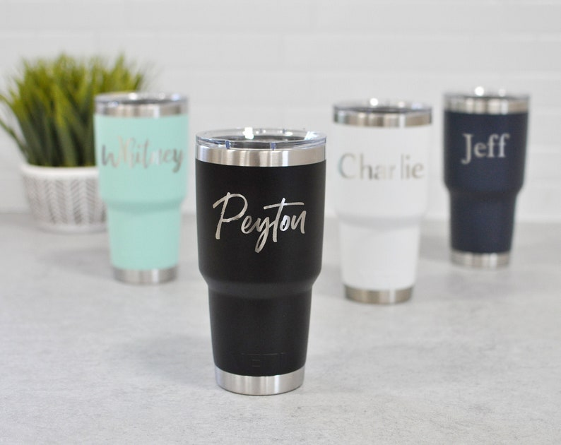 Laser Engraved Yeti Custom Yeti Rambler Yeti 30 Oz Tumbler Custom Tumbler Wedding Tumblers Name Tumbler Personalized Yeti