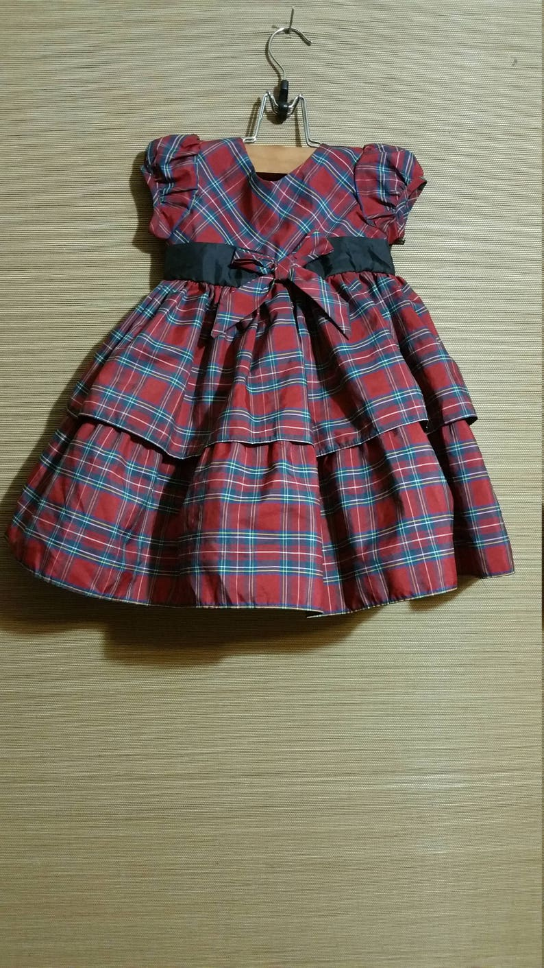 a8e8e71ba Free Ship Little baby girl traditional red plaid holiday | Etsy