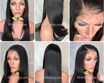 NEW! Pre-plucked hairline Lace front wig sew-in weave Onika wig straight lace front wig lace wig long lace wig black lace wig