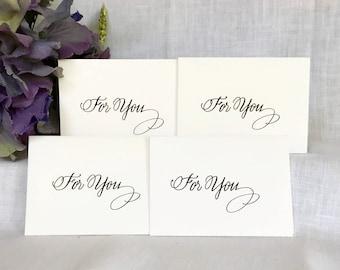 Mini Gift Card Envelopes - Mini Gift Card and Envelopes - Hand Lettered Calligraphy Gift Cards - Mini Gift Envelopes - Set of 4 Gift Cards