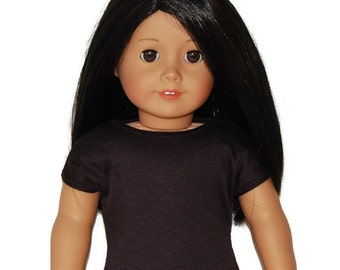 "Dark Brown Tee Shirt - Doll Clothes made to fit 18"" American Girl Dolls"