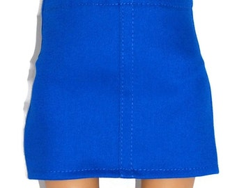 "Cobalt Blue Stretch Mini Skirt - Doll Clothes fits 18"" American Girl Dolls"
