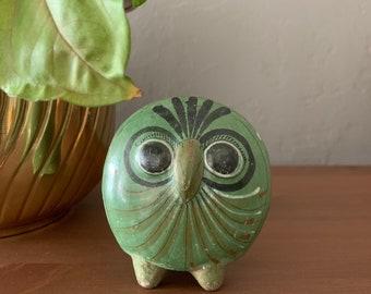 Vintage 60's Tonala Mexican Stoneware Owl