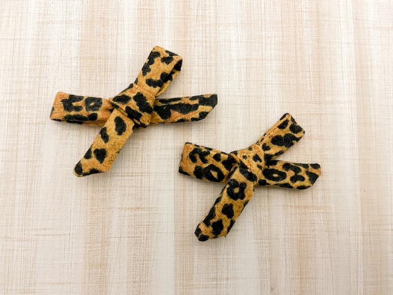 Hair Bow Clip Girls Hair Clips Girls Hair Bow Cheetah Print Hair Bow Baby Headband Bow Baby Bows Fun Hair Bow Bows for Toddler