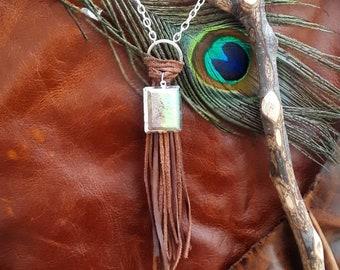 Boho chrysoprase necklace