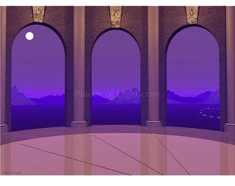 Three Doorways, Fantasy art, visionary art, mystical item, meditation art, new age art, metaphysical gift, unique gift, digital art print